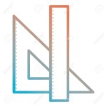 triangular geometric rules school vector illustration design