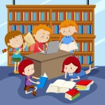 vector-group-of-children-studying