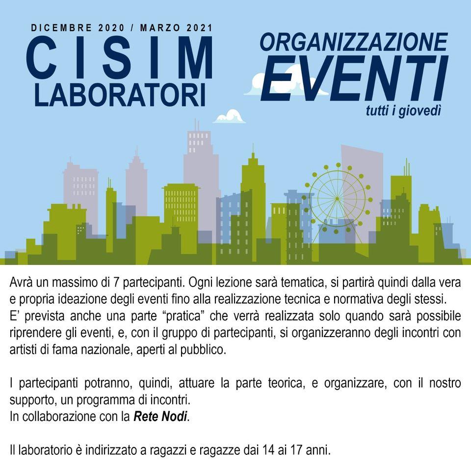 laboratorio organizzazione eventi