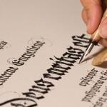 immagine calligrafia corso organizzato dal labart ravenna